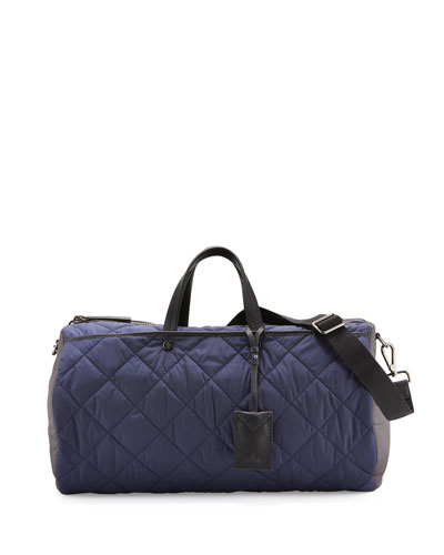 New Bertrand Quilted Duffle Bag, Navy