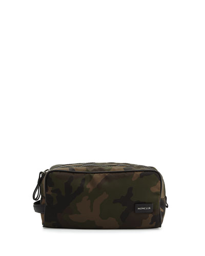 Camouflage Toiletry Case, Green