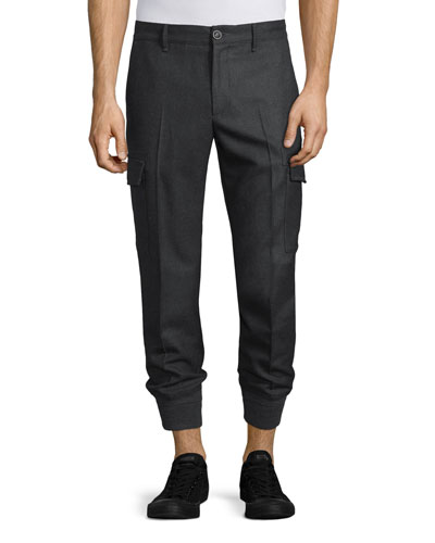 Cargo-Pocket Jogger Pants, Charcoal