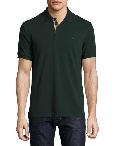 Short-Sleeve Oxford Polo Shirt, Racing Green