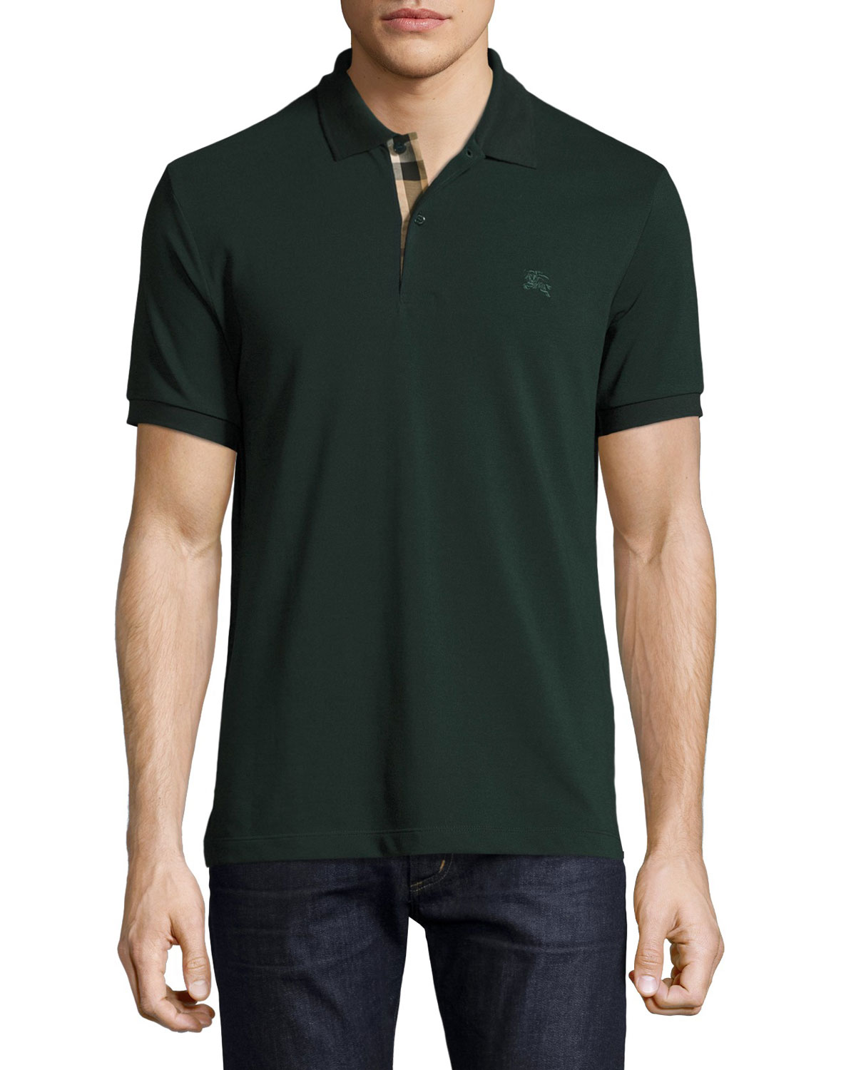 Short-Sleeve Oxford Polo Shirt, Racing Green
