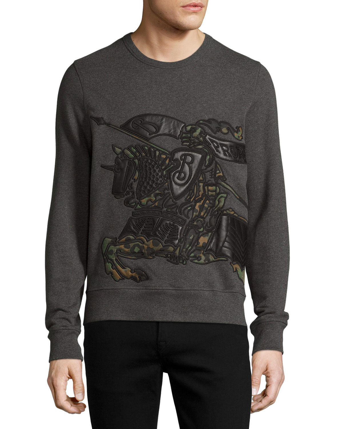 Camo & Leather Equestrian Knight Sweatshirt