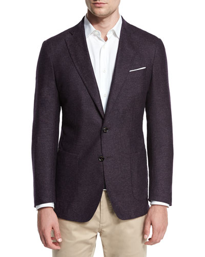 Alpine Tweed Soft Sport Coat, Spiced Plum