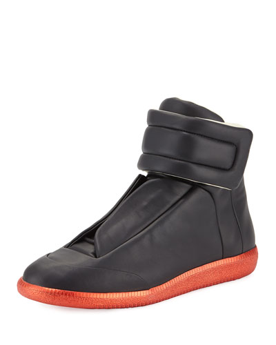 Future High-Top Sneaker, Black/Red