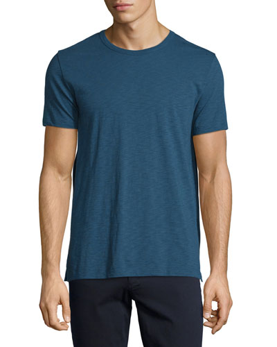 Slub Crewneck T-Shirt, Prussian Blue