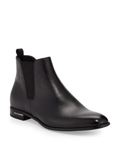 cf0f28d777067a Quick Look. Prada · Saffiano Leather Chelsea Boots ...