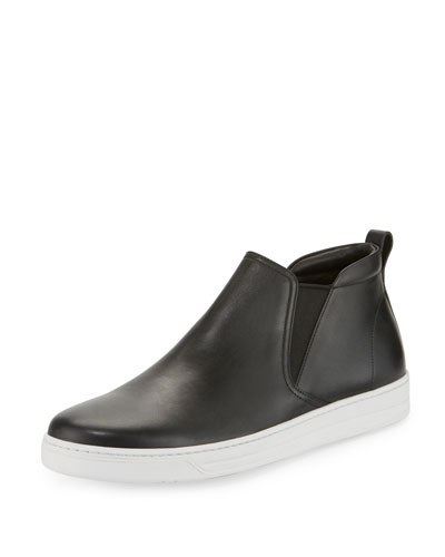 Leather Chelsea Sneaker, Black