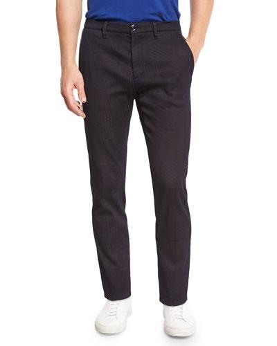 Tonal Patchwork Pants, Navy