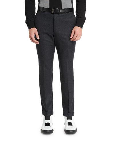 Lightweight Wool Pants, Charcoal