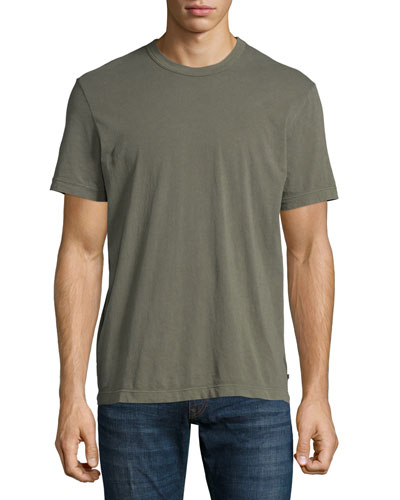 Crewneck Knit T-Shirt, Taupe