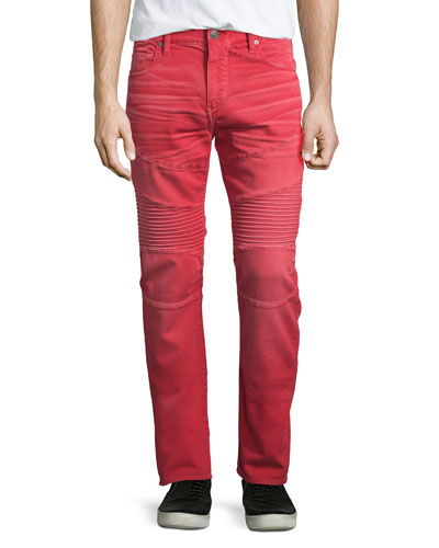 Rocco Active Moto Denim Jeans, Cho Red