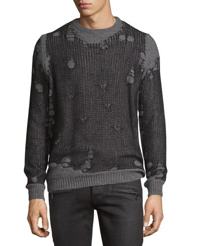 K-Eversus Destroyed-Mesh Sweater