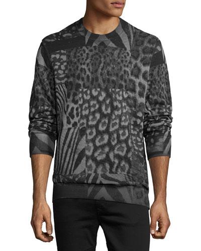 S-Joe-AR Animal-Print Sweatshirt