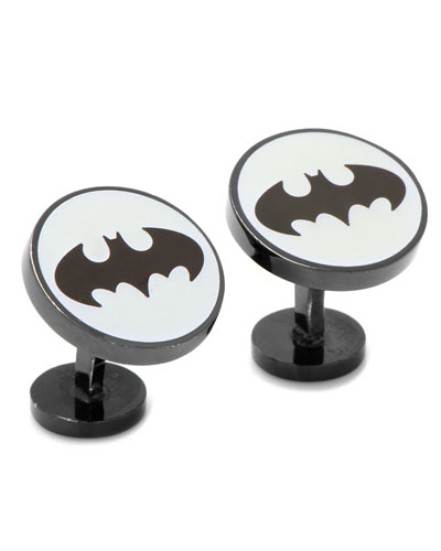 Batman Glow-In-The-Dark Enamel Cuff Links