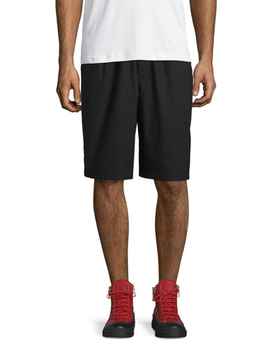 Woven Athletic Shorts, Darkest Black