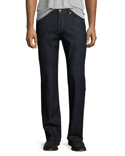 Austyn Relaxed Straight-Leg Denim Jeans, Downtown Dark