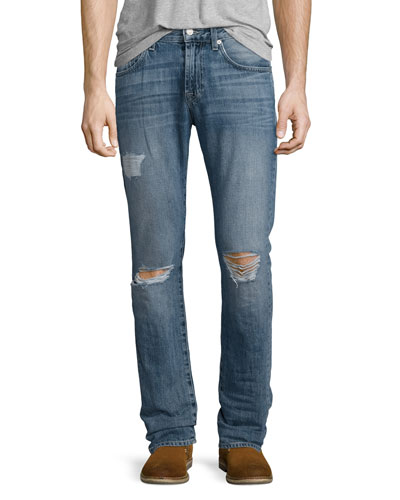 Paxtyn Destroyed Denim Jeans, Relic