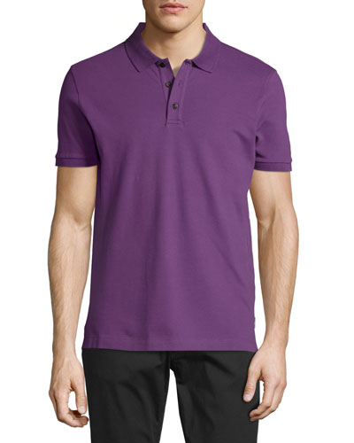 Piqué Polo Shirt, Purple