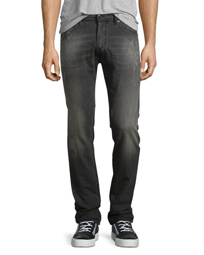 Tepphar Distressed Denim Jeans, Gray