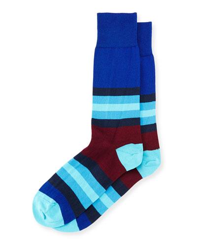 Chunky Colorblock Socks, Navy