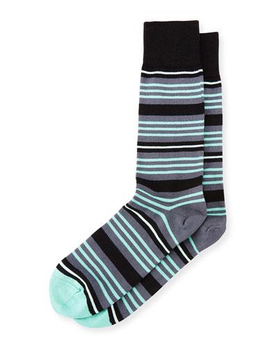 Spin Striped Socks, Black
