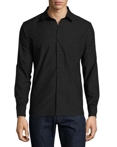 Woven Oxford Shirt, Black
