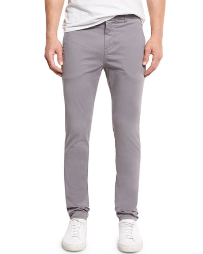 Brooks Slim-Fit Twill Trousers, Neptune Gray