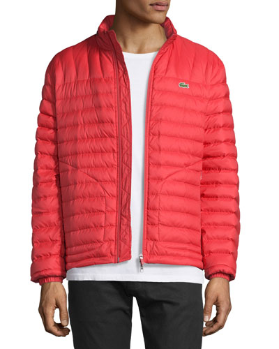 Lightweight Quilted Down Jacket, Red