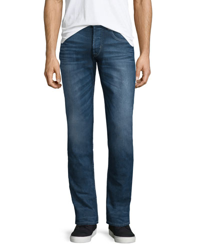 Blake Vortex Slim-Straight Jeans, Dark Blue