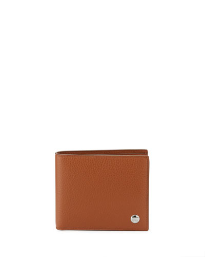 Boston Leather Bi-Fold Wallet, Tan