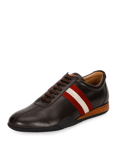 Men's Frenz Leather Low-Top Sneaker, Brown