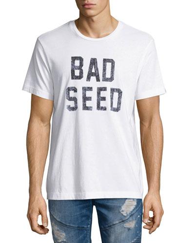 Bad Seed Skull Graphic T-Shirt, White