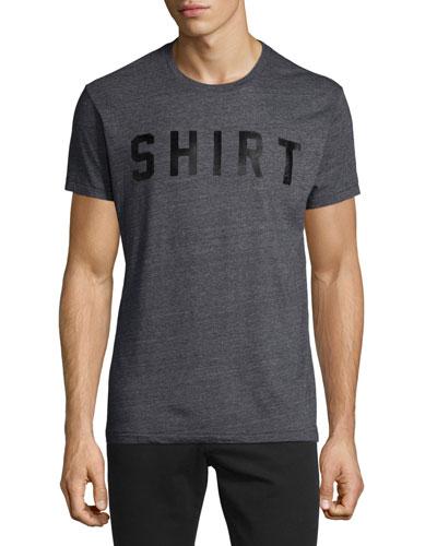 Shirt-Text Short-Sleeve T-Shirt