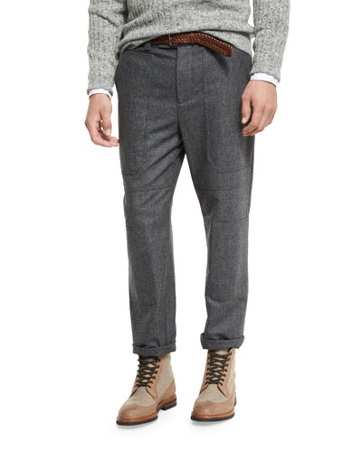 Flannel New Cargo Pants, Lead