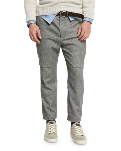 Herringbone New Cargo Pants, Lead