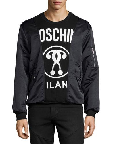 Combo Logo-Print Sweatshirt, Black