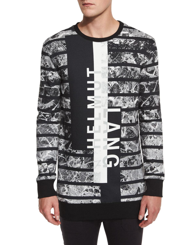 Logo Graphic Oversized Sweater, Black Multi