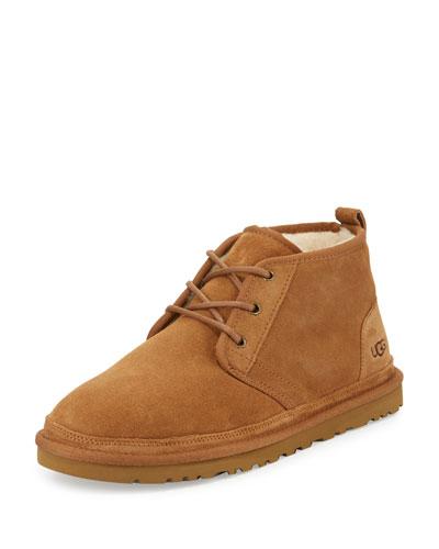 Neumel Suede Desert Boots, Chestnut