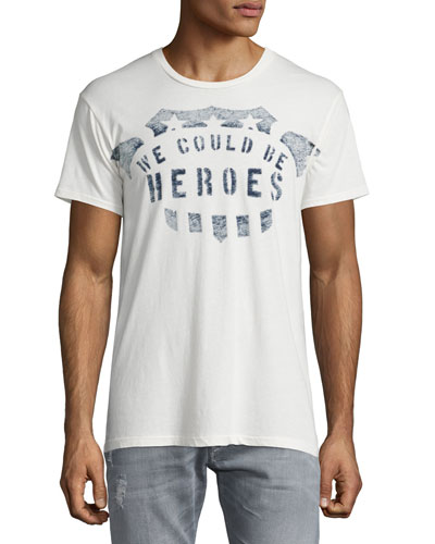 Heroes Crewneck T-Shirt, White