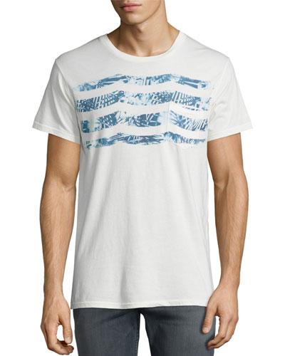 Sapphire Waves Pocket T-Shirt, White