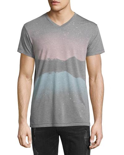 Zion Landscape V-Neck T-Shirt, Multi