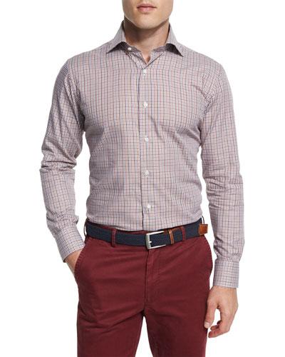 Alpine Check Long-Sleeve Sport Shirt