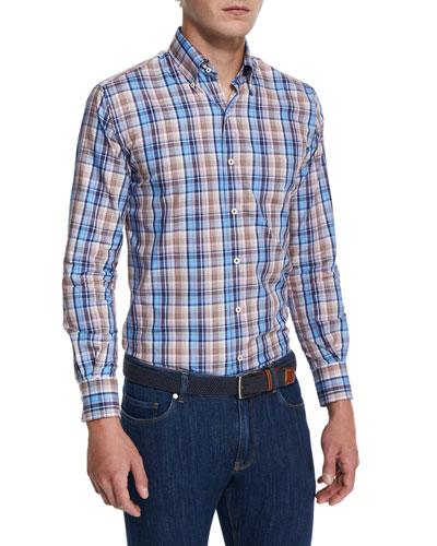 Farmington Plaid Long-Sleeve Sport Shirt