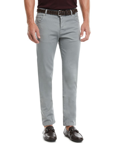 Twill Five-Pocket Pants, Cement