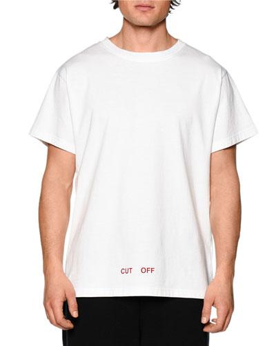 Cut Off Short-Sleeve Graphic T-Shirt