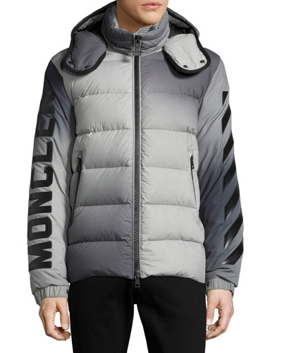 Enclos Ombré Hooded Puffer Jacket, Gray