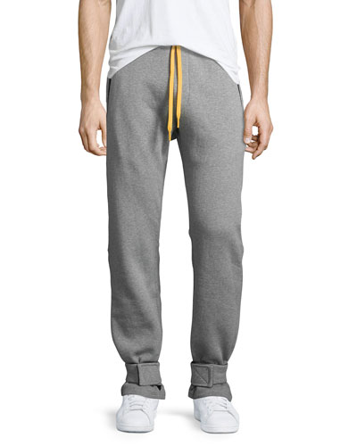 Cotton Sweatpants w/Yellow Accents