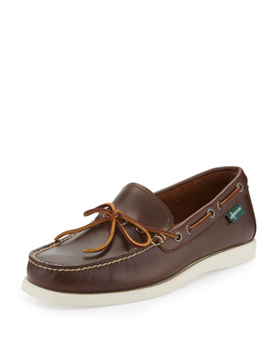 Yarmouth 1955 One-Eye Camp Moc Slip-On Shoe, Dark Brown