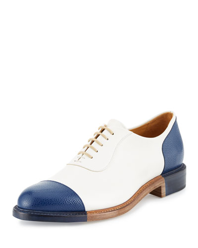 The Smythe Leather Cap-Toe Oxford Shoe, Nautical