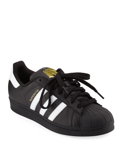 Men's Superstar Classic Sneaker, Black/White